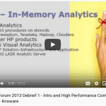 Video 1 – Introduction to SAS Global Forum and High Performance Computing